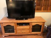 Solid Oak Entertainment Center Amish Made