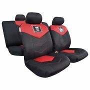New 9pcs Mesh Embroidery Cool Skull Pirate Crossbones Universal Car Seat Covers