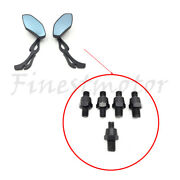 Motorcycle Racing Rearview Side Mirrors Bolt 8mm 10mm Black Counter/clockwise
