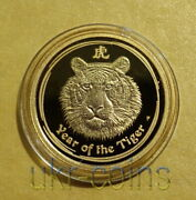 2010 Australia Lunar Ii Year Of The Tiger 1/10 Oz Gold Proof Coin 15 Ultra Rare