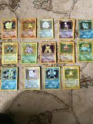 Pokemon Holograpic Cards 1/102 Rare Whole Set Included With 1st Addition Machamp