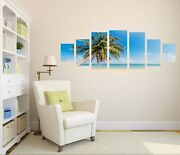 3d Coconut Tree Beach 123 Unframed Print Wall Paper Deco Indoor Aj Summer