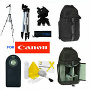 50 Pro Photo Tripod +shock Proof Backpack + Remote For Canon Eos M50 Dslr