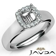 1.2ctw Cathedral Style Filigree Cushion Diamond Engagement Ring Gia I-si2 W Gold