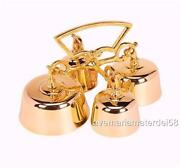 Sanctuary Altar Bells Four Bells Brass With Handle 7 1/2w X 4 1/4h