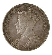 Raw 1933 New Zealand 1/2c 1/2 Crown Silver Coin