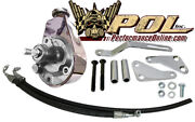 Chrome Power Steering Pump, Bracket And Hose Kit, Small Block Chevy
