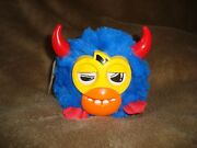 Furby Furbling Party Rockers Blue With Red Horns Scoffby 3.5 Tall 2012 Hasbro