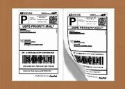 800 Half Sheet 8.5x5.5 Shipping Labels Self Adhesive For Paypal Usps Ebay