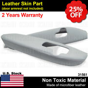 Fits 2005-2012 Acura Rl Leather Front Door Panel Armrest Cover 2pcs Taupe Gray