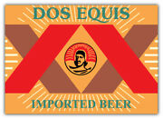 Dos Equis Logo Sticker Car Bumper Decal - 3and039and039 5and039and039 Or 6and039and039