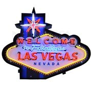 Welcome To Fabulous Las Vegas Neon Sign Vintage Look Light Neon Sign 39x33x6