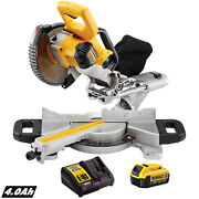 Dewalt Dcs365n 18v 184mm Cordless Mitre Saw With 1 X 4.0ah Battery And Charger