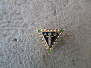 Antique Alpha Phi Omicron Thera Caduceus Medical Gold Named Fraternity Pin
