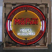 Mopar Circle Parts Accessories The Chrysler Corporation Beer Neon Sign 36 X 36