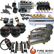 D Chevy S10 Air Kit 5gal 25/26 Bags 3/8 Valve Shock Relocater Fittings 5 Gal