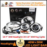 740w Projector Daymaker Headlight Passing Lights Mount Ring Fits Harley Touring