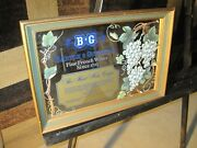 B And G Barton And Guestier Fine French Wine 2 Wood Framed Mirror Sign 16x22