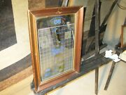 B And G Barton And Guestier Fine Wines Of Rhone Wood Framed Mirror Sign 20x15