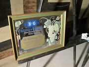 B And G Barton And Guestier Fine French Wines Wood Framed Mirror Sign 20x15