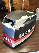 1980 S Mariner 40 Hp Outboard Motor Hood Top Cowl Cowling Cover Freshwater Mn