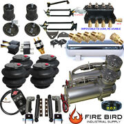 B Silverado C1500 Air Kit 2600 Bags 3/8 Valve 7 Switch 88-98 Acc 5 Gal Skrelo