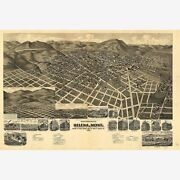 Helena Mt Lewis And Clarke County Antique Map Pictorial Or Birdseye Map