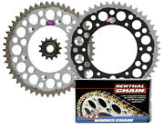 Renthal Grooved Front And Twinring Rear Sprocket And R1chain - 07-12 Suzuki Rmz250