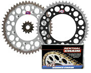 Renthal Grooved Front And Twinring Rear Sprocket And R1 Chain - 05-12 Suzuki Rmz450