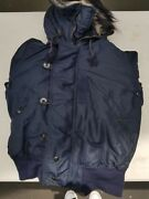 Usaf 1950s N-2a Heavy Attached Hooded Flight Jacket Size M Mfg S.h. Knop Mfg Co.