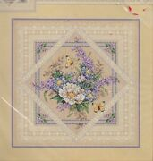 Dimensions Flowers And Lace Counted Xstitch Kit Mpn 35105sealedsandy Orton