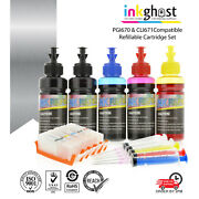 Refillable Ink Cartridges For Canon Mg6865 Mg6860 Mg5765 Code Pgi670 Cli671 Xl