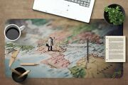 3d Funny World Map 220 Non-slip Office Desk Mouse Mat Large Keyboard Pad Game