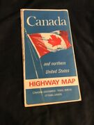 Vintage Canada And Northern United States Highway Map 1968 Pretty Good Condition