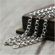 Real Solid 925 Sterling Silver Necklace O Link Chain Om Mani Padme Hum 20 - 28