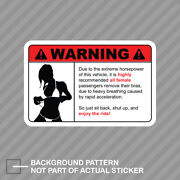 Remove Clothing Warning Sticker Decal Vinyl Extreame Horsepower Hp Jdm Ladies