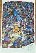 Sergio Aragones Signed Autographed Sketched Groo 11x17 Lithograph Litho Poster