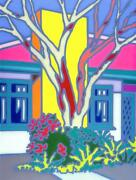 Howard Arkley - House With Native Tree - Limited Edition Print-1996 - Small Size