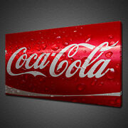 Red Coca Cola Can Close Up Kitchen Modern Canvas Print Wall Art Picture Photo