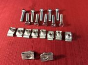 Metric M8 Body And Fender U Nut And 4 Cm Bolt Kit / Lot / Set 10 Bolts 10 Nuts