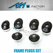 Cnc Black Red Frame Plugs Hole Cover 6pcs Fit Ducati Monster 821 1200 2015-2018