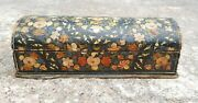 Old Handmade And Painted Wooden Unique Pen-pencil Box-beautiful Painting