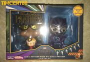 Hot Toys Cosb487 Movbi And Black Panther Translucent Purple Sparklers Cosbaby Set