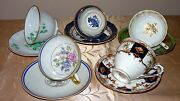 Lot Of 5 Tea Cup And Saucer Set France Limoges And England Bone China