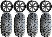 Msa Milled Flash 18 Atv Wheels 33 Motoclaw Tires Can-am Renegade Outlander