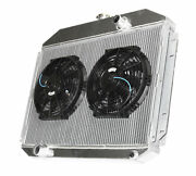 3 Row Aluminum Racing Radiator+10 Fans For 61-64 Ford F-100 F-250 F-350 V8