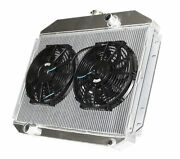 3 Row Aluminum Racing Radiator+12 Fans For 61-64 Ford F-100 F-250 F-350 V8