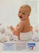 1995 Huggies Ultra Trim Diapers First Cloth-like Cover 1 Page Vintage Print Ad
