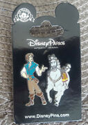 Disney Parks Set Of 2 Pins Flynn Rider Tangled Maximus New On Card Open Edition