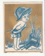 Citizenand039s Clothes Helmet Top Hat Gold And Blue Victorian Card C 1880s